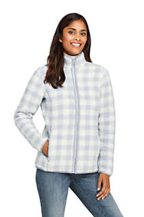 Women's Print Cozy Sherpa Fleece Jacket, Front