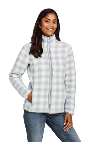 Women's Patterned Sherpa Fleece Jacket