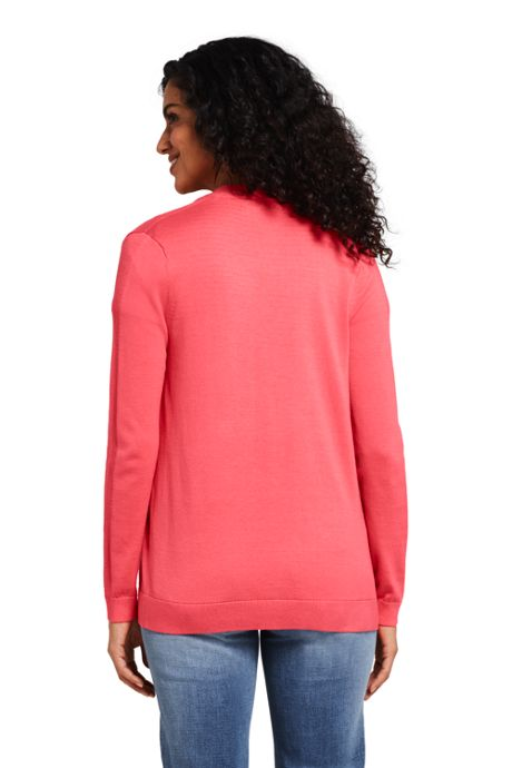 Women's Long Sleeve Supima Open Cardigan Sweater