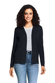 Women's Tall Long Sleeve Supima Open Cardigan Sweater