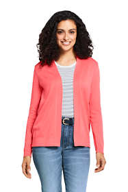 Women's Supima Cotton Long Sleeve Open Cardigan Sweater
