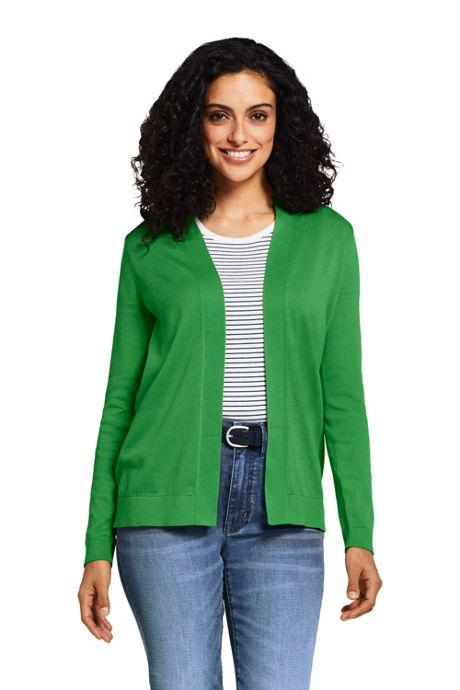 Women's Tall Long Sleeve Supima Open Cardigan Sweater