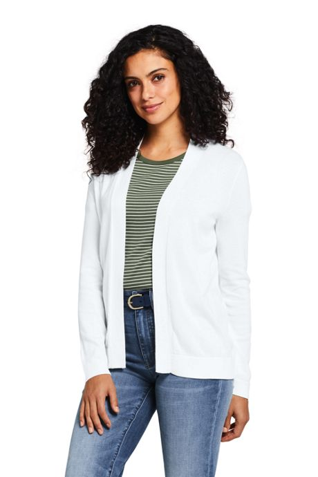 Women's Long Sleeve Supima Open Cardigan Sweater