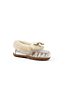 Women's Velvet Moccasin Slippers with Shearling Collar