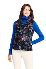 Women's Print Velvet Down Puffer Vest