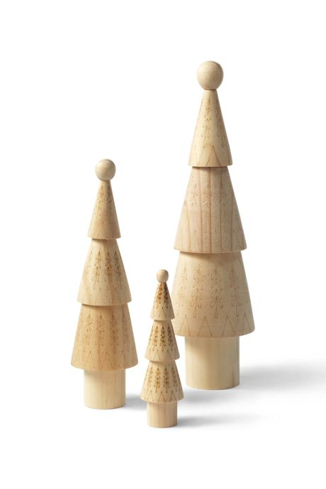 Wooden Chisel Christmas Tree Set