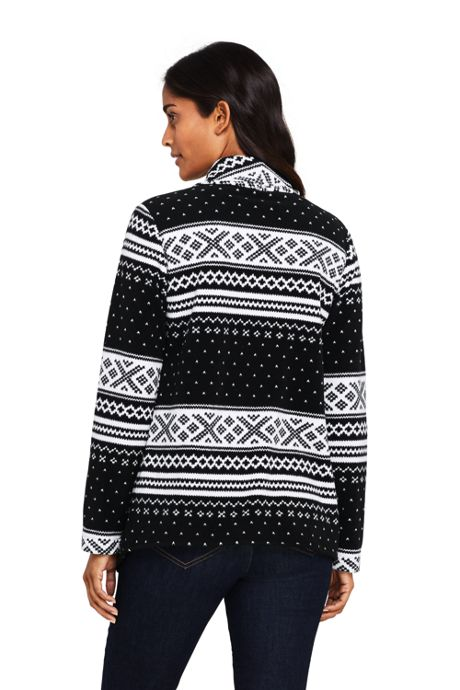 Women's Print Waterfall Fleece Cardigan