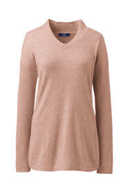 Women's Plus Size Cashmere Tunic Sweater V-neck