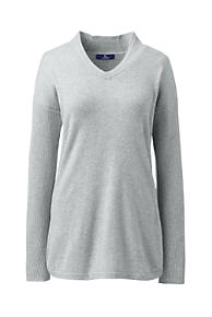 8f2d7c971e4 Women's Plus Size Cashmere Tunic Sweater V-neck