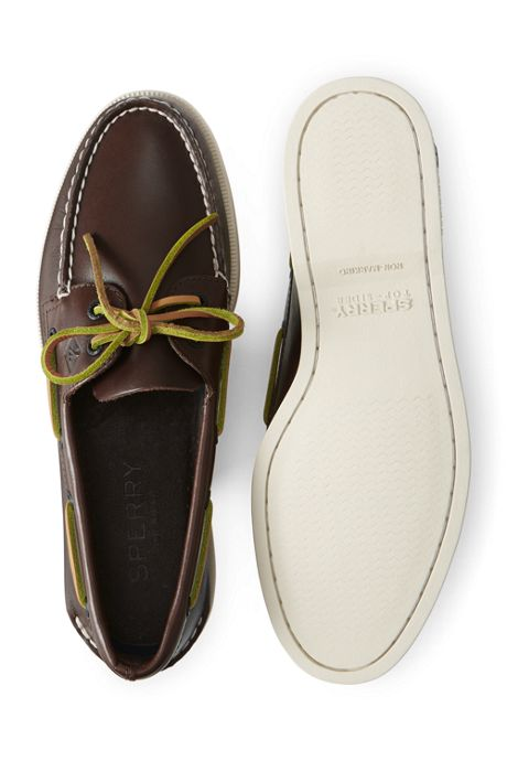 School Uniform Men's Wide Sperry Authentic Original 2 Eye Boat Shoes
