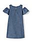 Little Girls' Chambray Cold Shoulder Dress