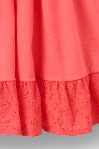 Girls Eyelet Trim Knit Twirl Dress