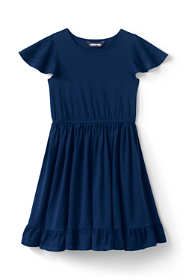 Girls Plus Eyelet Trim Knit Twirl Dress