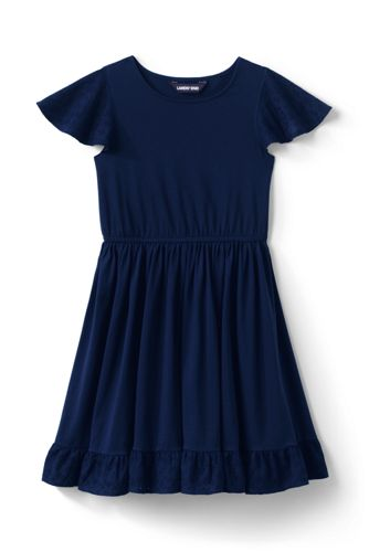 Robe Virevoltante Broderie Anglaise, Toute Petite Fille