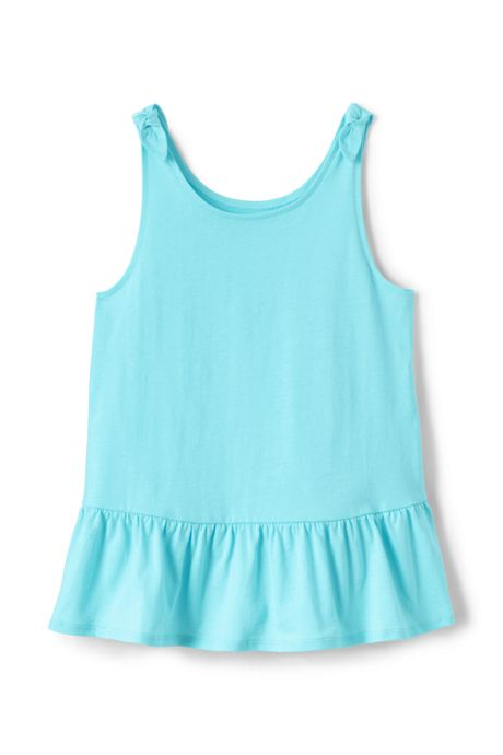 Little Girls Tie Shoulder Tank Top
