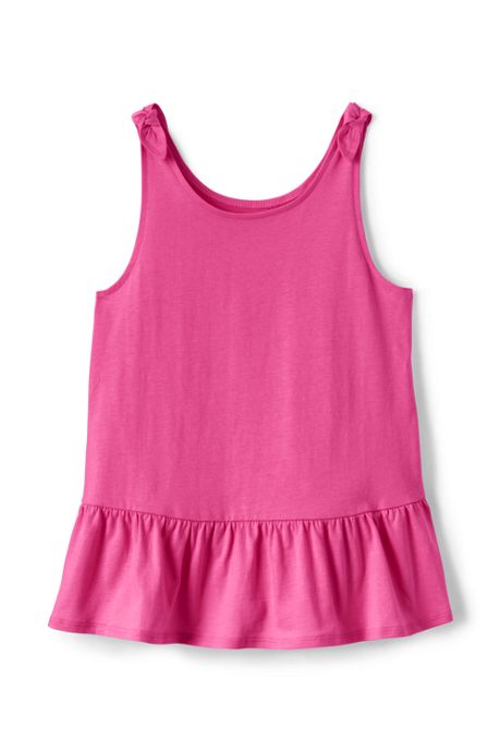 Girls Tie Shoulder Tank Top