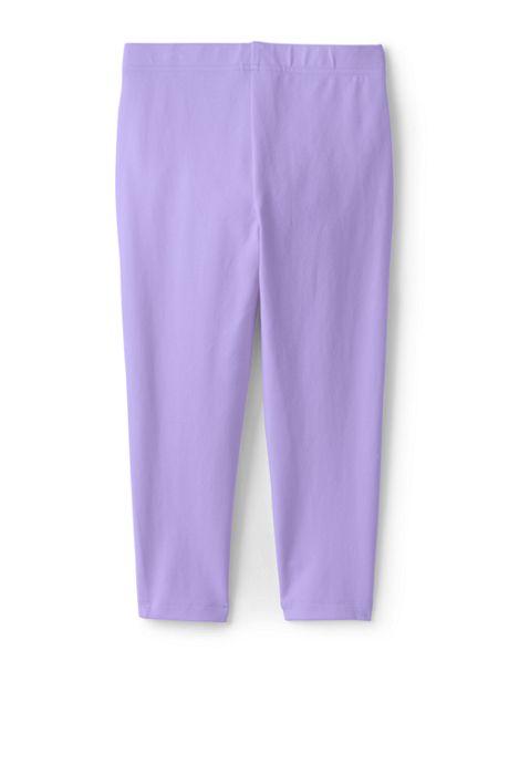 Girls Iron Knee Capri Solid Leggings