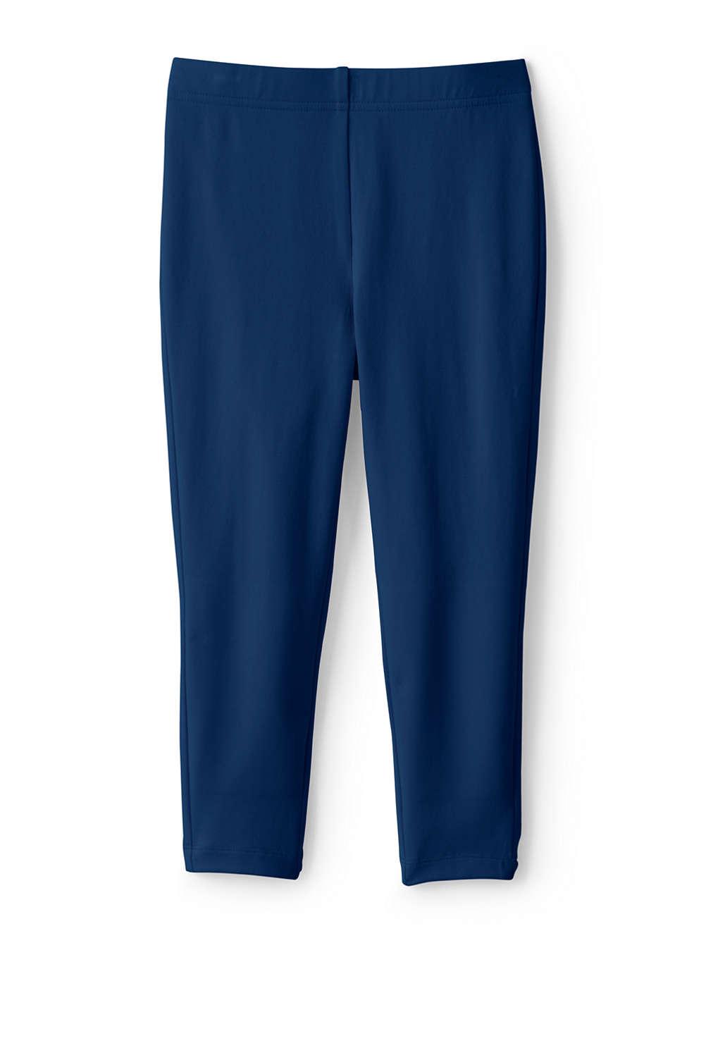 06276e5db9b2e3 School Uniform Girls Iron Knee Capri Solid Leggings from Lands' End