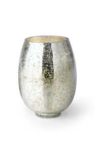Balsam and Cedar Large Crackle Glass Candle