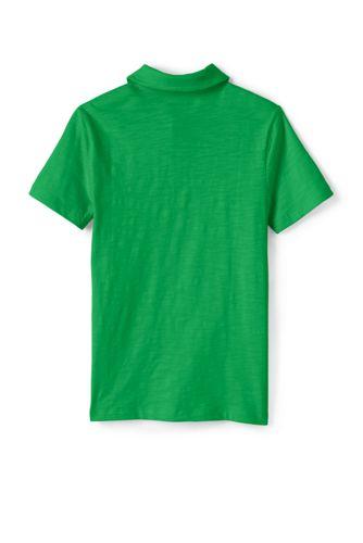 Toddler Boys Solid Slub Polo Shirt
