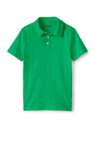 Boys Husky Solid Slub Polo Shirt