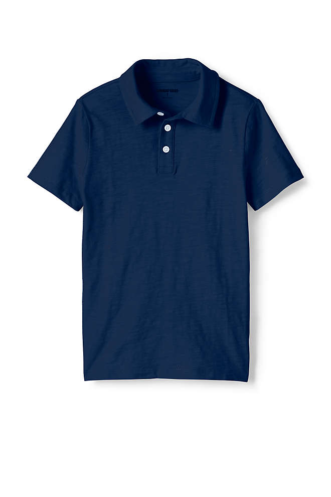 Boys Solid Slub Polo Shirt, Front