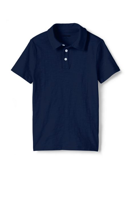 Toddler Boys Solid Slub Polo Shirt
