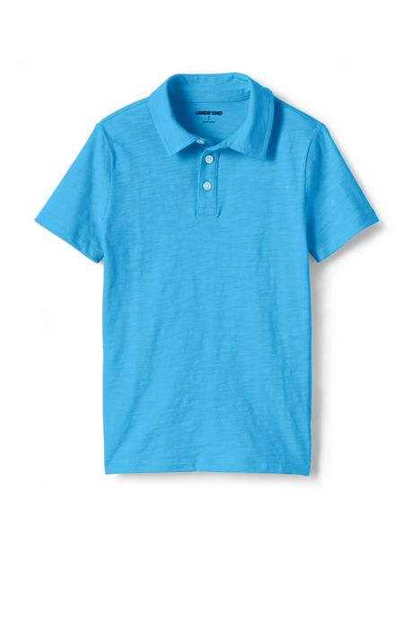 Boys Solid Slub Polo Shirt