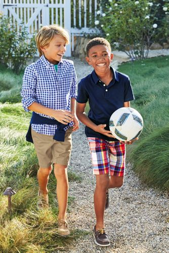 Boys Husky Solid Slub Polo Shirt