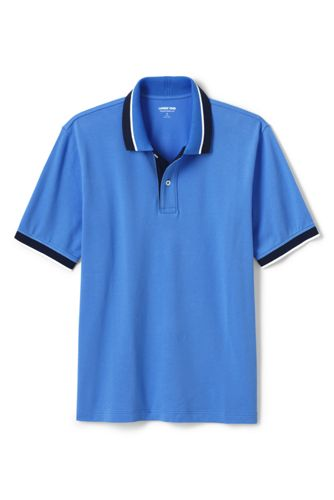 Polo Stretch Finitions Contrastées, Homme Stature Standard