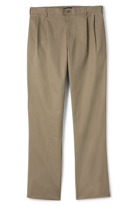 Men's Pre-hemmed Iron Knee Blend Pleat Chino Pants