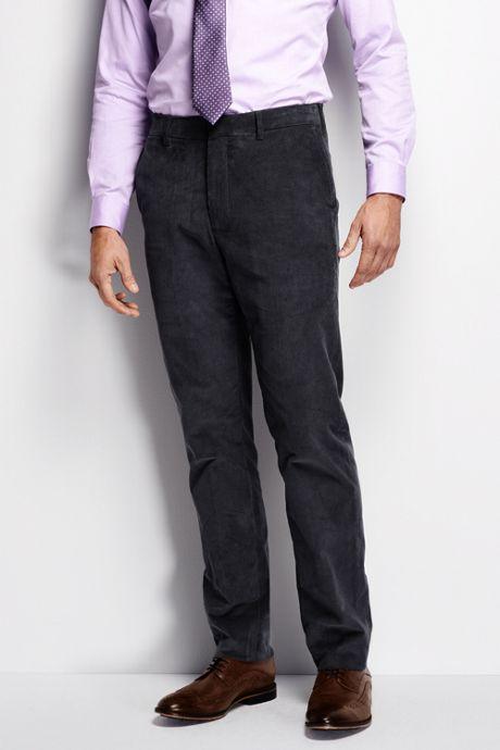 Men's Pre-hemmed Tailored Fit 18-wale Corduroy Trousers