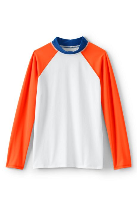 Boys Husky Colorblock Raglan Rash Guard