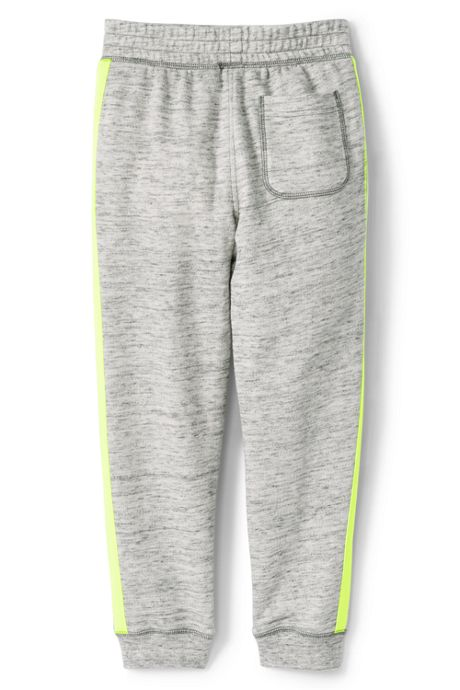 Boys Husky Iron Knee Side Stripe French Terry Jogger Sweatpants