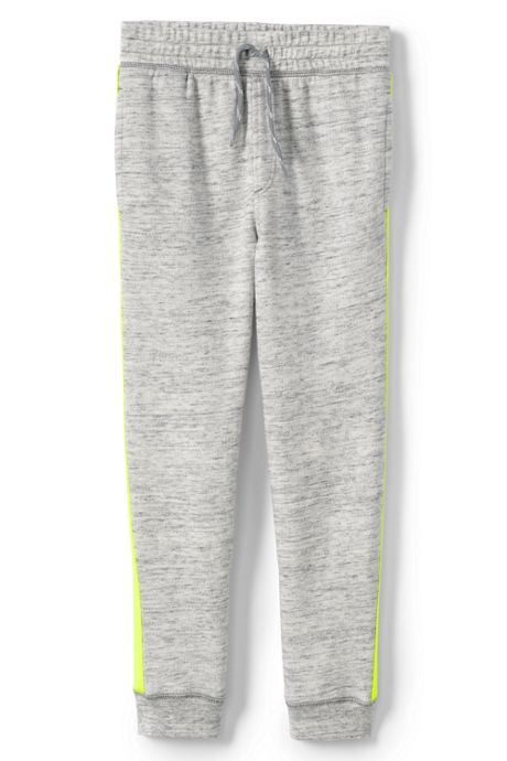 Little Boys Iron Knee Side Stripe French Terry Jogger Sweatpants