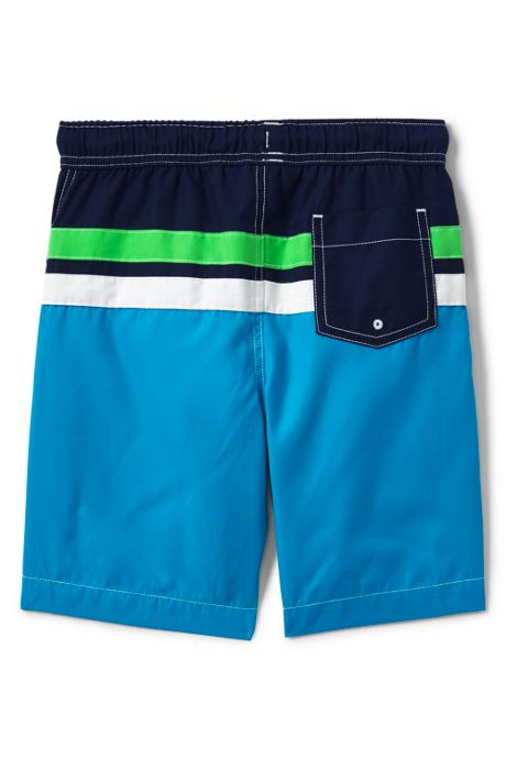 Boys Slim Colorblock Swim Trunk