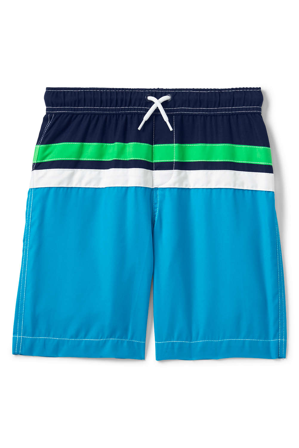 d79764f176 Boys Colorblock Swim Trunk from Lands' End