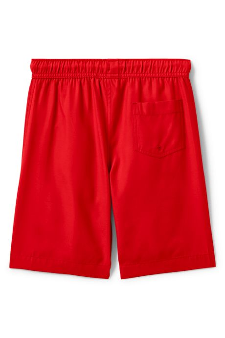 Boys Husky Solid Swim Trunk