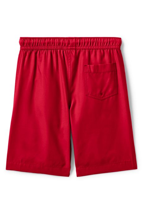 Boys Slim Solid Swim Trunks