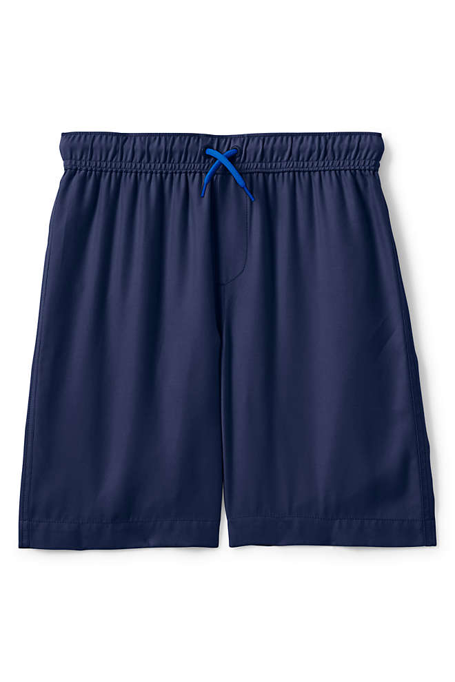 Boys Solid Swim Trunks, Front