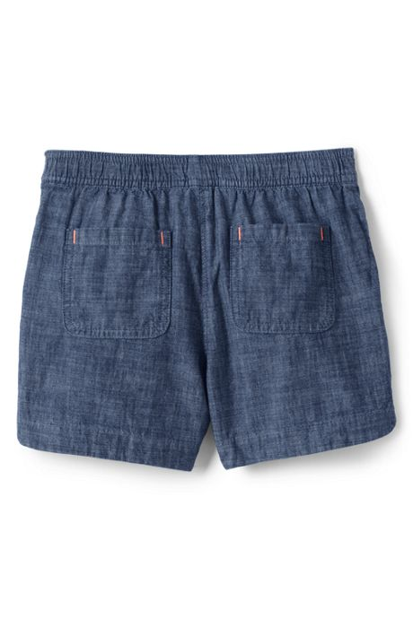 Girls Plus Chambray Woven Pull On Shorts
