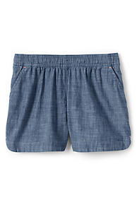 8b090f44d18 Toddler Girls Chambray Woven Pull On Shorts