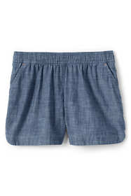Girls Chambray Woven Pull On Shorts
