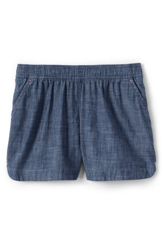 Short en Chambray Facile à Enfiler, Fille