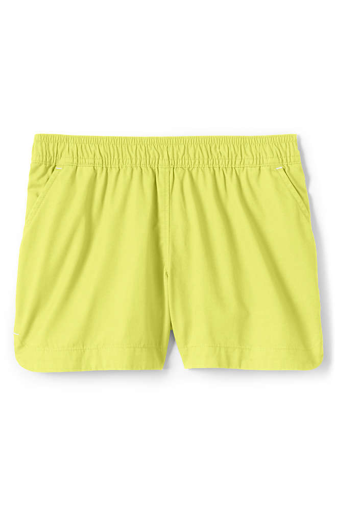 Girls Pull On Solid Shorts, Front