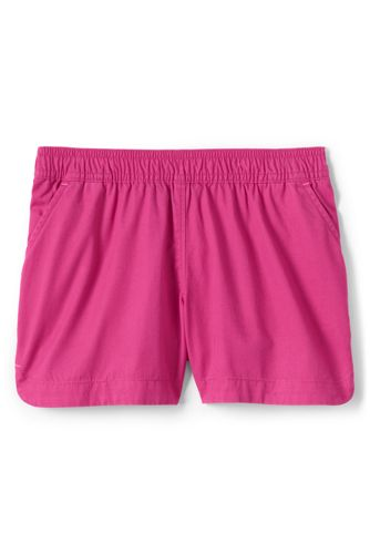 Little Girls' Elastic Waist Cotton Shorts