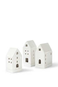 Porcelain Tealight Candle Houses (Set of 3)