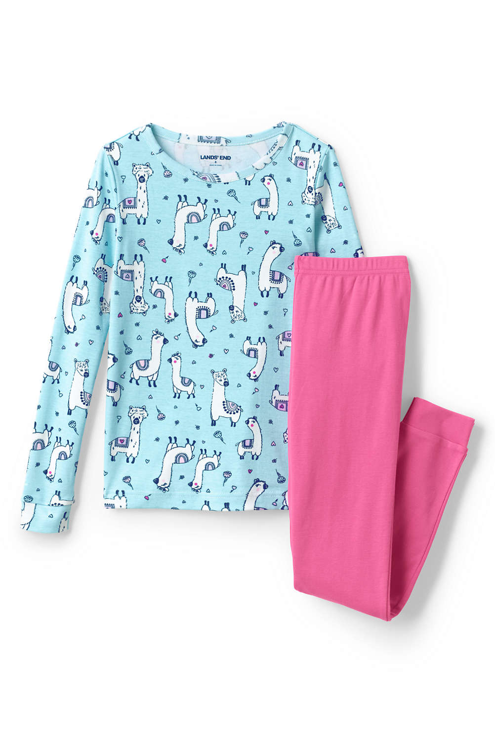8a413f387b Toddler Girls Snug Fit Pajama Set from Lands  End