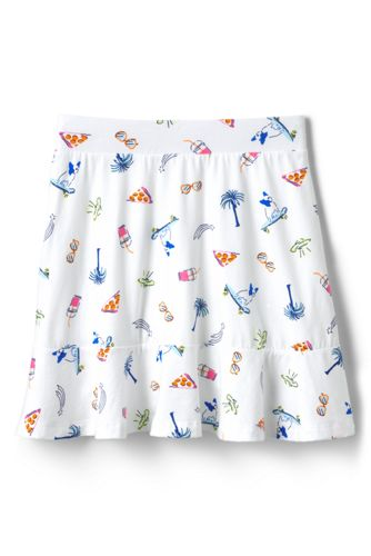 Little Girls' Ruffle Hem Patterned Jersey Skort