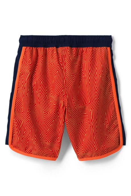 Boys Pattern Active Stretch Swim Trunks